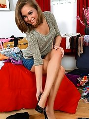 Cute Nubile girl next door tries on some of her new clothes